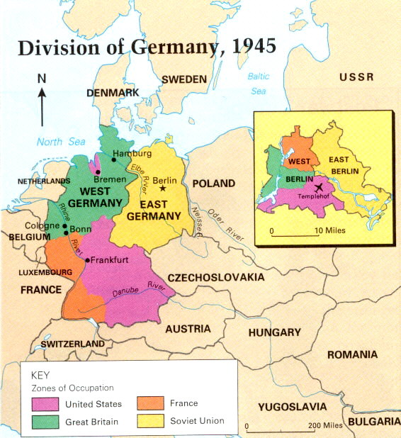 />15 Division of Germany 1945&#8243;/> <div style=